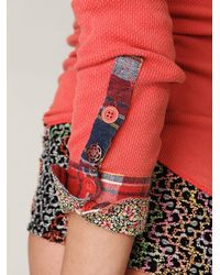 Free People | Pink We The Free Lou Flannel Cuff Thermal | Lyst