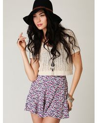 Free People | Gray High Waisted Skort | Lyst