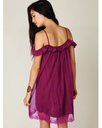 Free People   Red Off The Shoulder Slip   Lyst