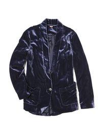 Free People - Blue Slouchy Velvet Blazer - Lyst