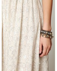 Free People - White Fp New Romantics Foiled Maxi Dress - Lyst