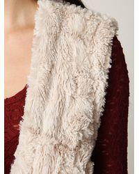 Free People | Natural Long Reversible Fur Vest | Lyst