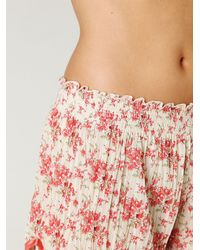 Free People | White Pleated Tap Short | Lyst