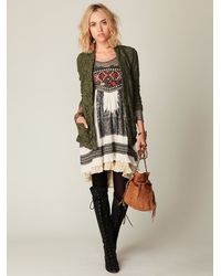 Free People | Green Lace Blazer | Lyst