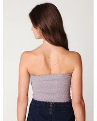 Free People | Purple Fp One Smocked Beaded Bandeau | Lyst