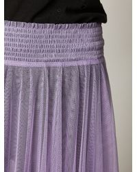Free People | Purple Mesh Half Slip | Lyst