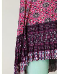 Free People - Pink Fp One Medallion Pleated Tunic - Lyst