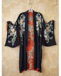 Free People | Black Vintage Kimono | Lyst