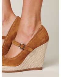 Free People - Brown Mary Jane Espadrille - Lyst