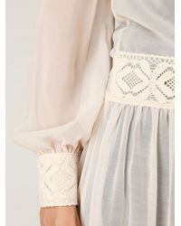 Free People | Natural Sheer Maxi Dress | Lyst