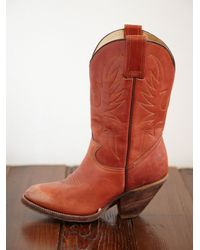 Free People | Brown Vintage Cowboy Boots | Lyst