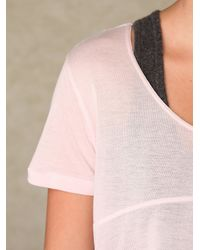 Free People - Pink Swing Cropped Top - Lyst
