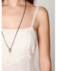 Free People - White Lace & Mesh Maxi Slip - Lyst
