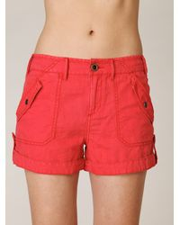 Free People - Pink Fridas Linen Cargo Short - Lyst