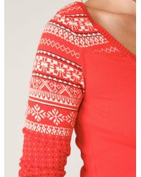 Free People - Pink Cabin Fever Layering Top - Lyst