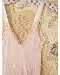 Free People - Pink Vintage Slip Dress - Lyst