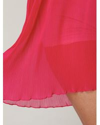 Free People | Pink Pleated Herringbone Slip | Lyst