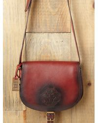 Free People | Red Tonya Saddle Bag | Lyst