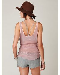 Free People - Pink Chunky Fishnet Top - Lyst