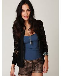 Free People | Blue Seamless Corset Top | Lyst