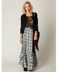 Free People | Blue Fp One Plaid Maxi Skirt | Lyst