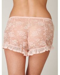 Free People | Pink Ruffle Bloomer | Lyst