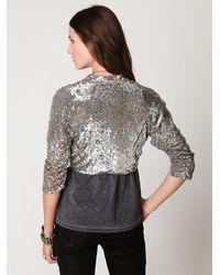 Free People | Metallic Fp One Sequin Jacket | Lyst