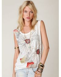 Free People | White We The Free Graphic Tunic | Lyst