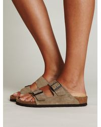 Free People | Natural Arizona Suede Birkenstock | Lyst