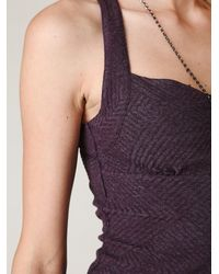 Free People | Purple Tribal Jacquard Body Con Dress | Lyst