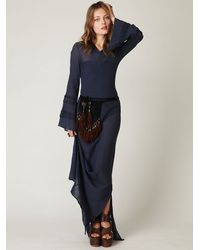 Free People - Blue Hooded Maxi Dress - Lyst