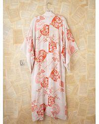 Free People - White Vintage Kimono - Lyst