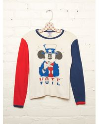 Free People | White Vintage Mickey Mouse Vote Tee | Lyst