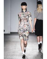Karen Walker | Multicolor Winter Floral Dress | Lyst