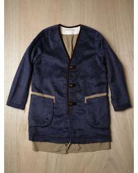 Sasquatchfabrix | Blue Mens Wool Blend Ninja Coat for Men | Lyst