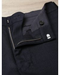 Unused - Black Mens Wool Cropped Trousers for Men - Lyst