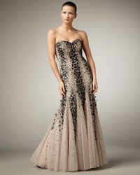 Alberto Makali | Brown Two-tone Strapless Mermaid Gown | Lyst