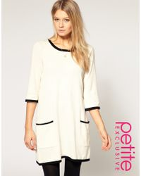 ASOS | White Jumper Dress With Contrast Detail | Lyst