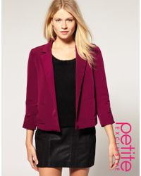 ASOS Collection | Purple Asos Petite Exclusive Cropped Blazer | Lyst