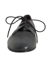 Balenciaga | Gray Anthracite Leather Arena Oxfords | Lyst