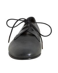 Balenciaga - Gray Anthracite Leather Arena Oxfords - Lyst