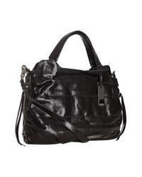 Botkier | Black Snake Embossed Leather Maddie Satchel | Lyst