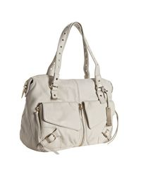 Botkier | Off White Leather Perforated Strap Helena Bag | Lyst