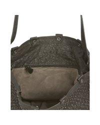 Bottega Veneta | Black Ebano Ostrich Leather Scaglie Tote | Lyst