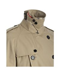 Burberry | Natural Prorsum Honey Cotton Belted Trench Coat for Men | Lyst