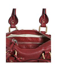Chloé - Red Cherry Leather Paddington Mini Satchel - Lyst