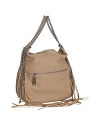 Christian Louboutin - Natural Beige Leather Marianna Multi-chain Hobo - Lyst