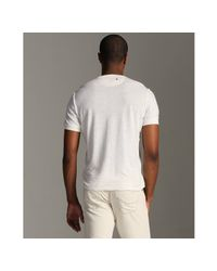 Converse | White Steam Cotton-linen Short Sleeve Henley T-shirt for Men | Lyst