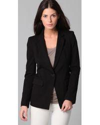 DKNY | Black Notched Collar Jacket | Lyst