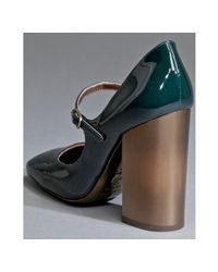 Dolce & Gabbana - Dark Green Patent Leather Mary Jane Pumps - Lyst